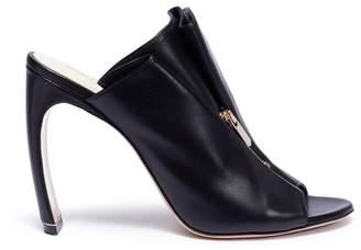 'Kristen' zip fold vamp leather mules