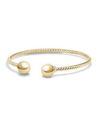 David Yurman Solari 18K Gold Bead Cuff Bracelet