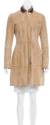 Brunello Cucinelli Knee-Length Shearling Coat
