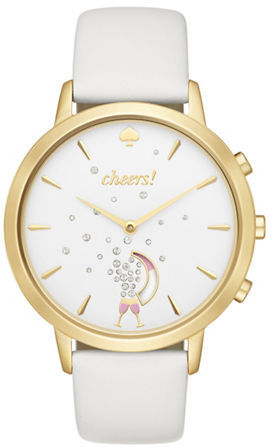 Kate SpadeKate Spade New York Idiom Sam Stainless Steel and Leather Strap Smart Watch