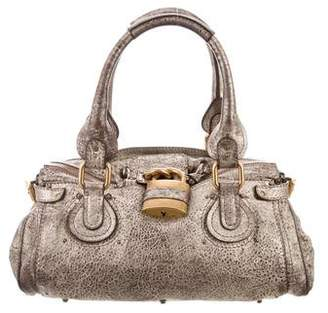 504d208eb8 Chloé Metallic Leather Paddington Bag