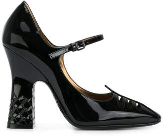 Bottega Veneta nero patent polignac calf Mary Jane