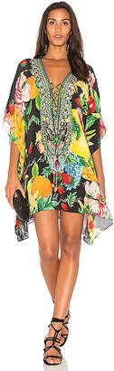 Camilla Short Lace Up Kaftan in Yellow. $550 thestylecure.com