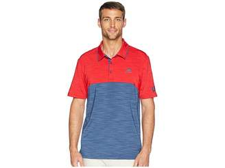 adidas Ultimate Heather Blocked USA Polo Men's Clothing