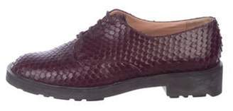 Clergerie Snakeskin Round-Toe Oxfords Snakeskin Round-Toe Oxfords