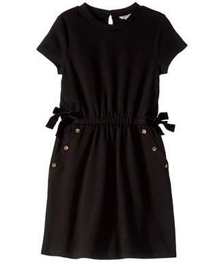 Habitual Elle Ponte Button Trimmed Dress (Big Kids)
