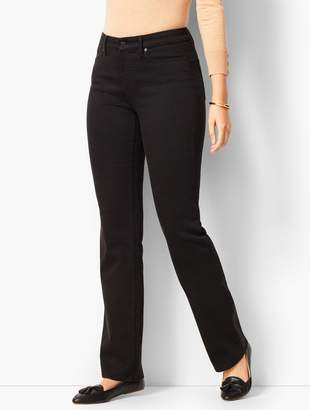 Talbots High-Rise Barely Boot Jeans - Curvy Fit/ Black Wash