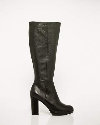 Le Château Leather Almond Toe Knee-High Boot