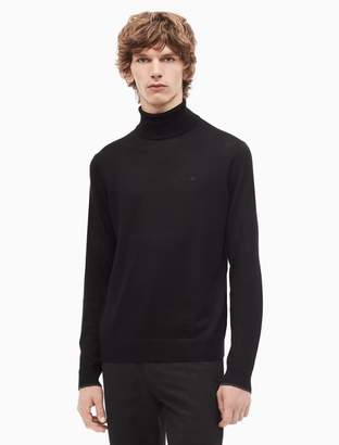 Calvin Klein regular fit solid turtleneck sweater