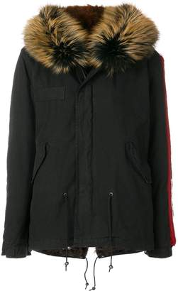 Mr & Mrs Italy embroidered mini parka coat