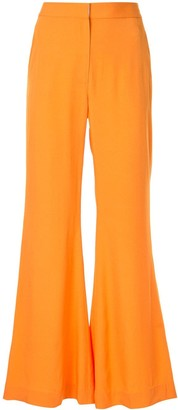 Rosetta Getty straight leg flared trousers