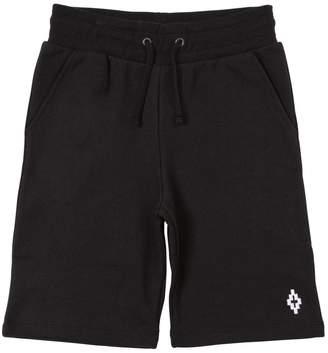 Marcelo Burlon County of Milan Cotton Sweat Shorts W/ Drawstring
