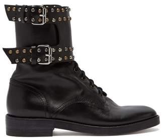 Isabel Marant Teylon Leather Ankle Boots - Womens - Black