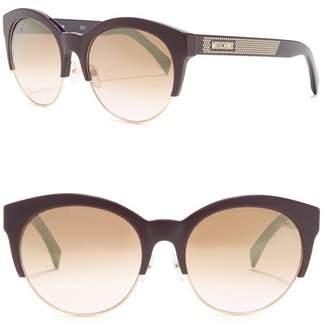 Moschino Round 56mm Sunglasses