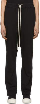 Rick Owens Black Drawstring Long Lounge Pants
