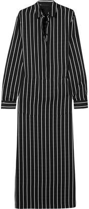 Haider Ackermann Striped Cotton Maxi Dress - Black