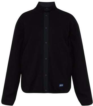 A.P.C. Yama Wool Blend Fleece Bomber Jacket - Mens - Black
