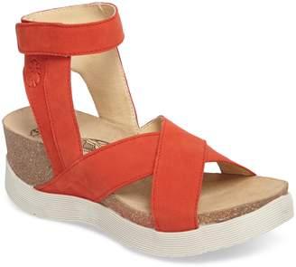 Fly London Weel Nubuck Leather Platform Sandal