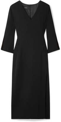 Akris Wool-blend Crepe Midi Dress - Black