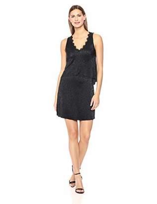 Three Dots Women's LU5881 Lurex 2-FER Dress
