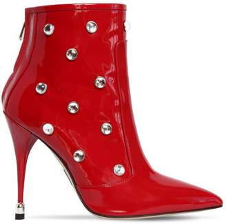 Paul Andrew 105mm Embellished Patent Leather Boots