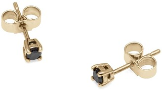 Myia Bonner 9Ct Yellow Gold & Black Diamond Stud Earrings