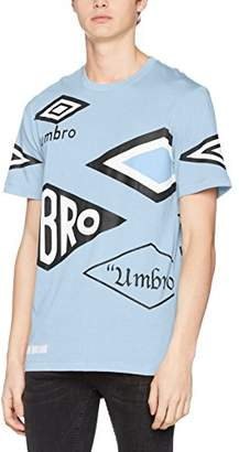 House of Holland Men's Umbro Multi Logo T-Shirt Casual Shirt