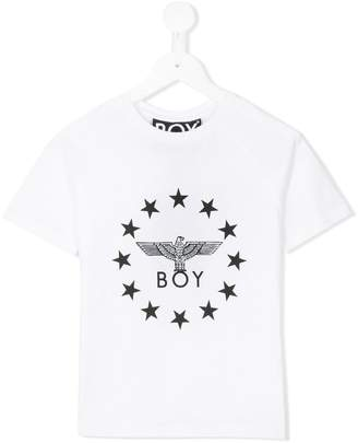 Boy London Kids star logo print T-shirt