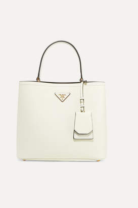 Prada Textured-leather Tote - White