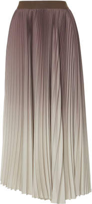 Agnona Ombre Pleated Midi Skirt
