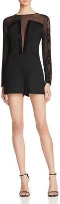 GUESS Frederikke Mesh Romper $89 thestylecure.com