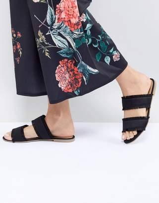 Pieces Two Part Mule With Fringing