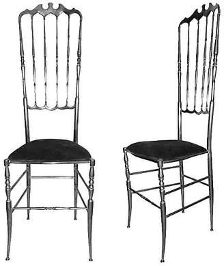 One Kings Lane Vintage High-Back Chairs by Chiavari - Set of 8 - Thomas Brillet Inc.
