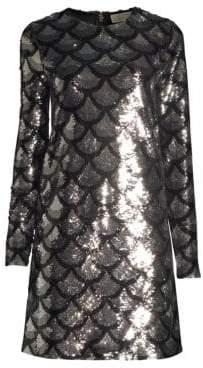 MICHAEL Michael Kors Scallop Sequin Shift Dress