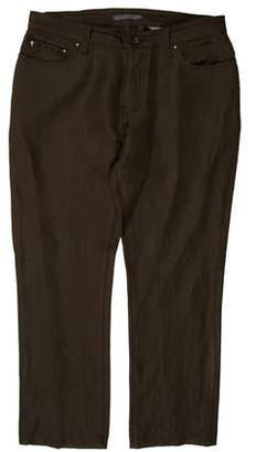 John Varvatos Slim Wool-Linen Pants