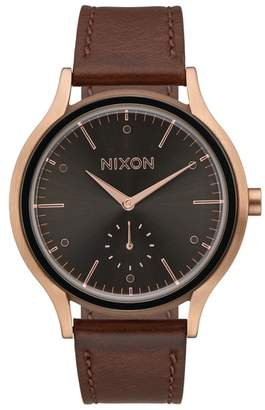 Nixon Sala Leather Strap Watch, 38mm