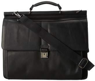 Kenneth Cole Reaction Columbian Leather - 5.38 Double Gusset Dowel Rod Portfolio Computer Bags