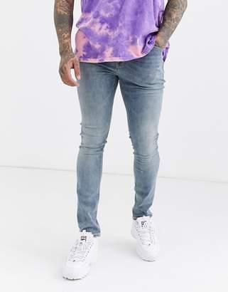 Asos Design DESIGN super skinny jeans in light wash
