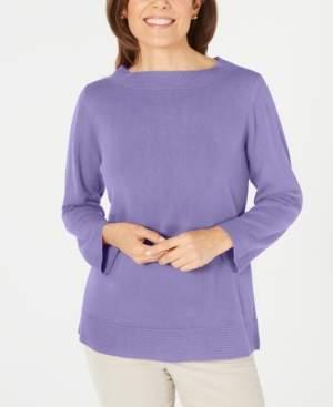 Karen Scott Petite Boatneck Sweater, Created for Macy's