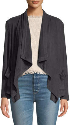 Cupcakes And Cashmere Buckingham Faux-Suede Open-Front Jacket
