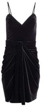 Alice + Olivia Brandon Maxwell Velvet Mini Dress
