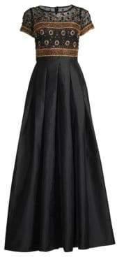 Aidan Mattox Embellished Top Dress