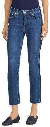 Ralph Lauren Raw-Hem Cropped Jeans in Indigo