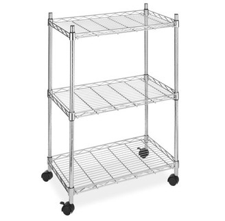 Whitmor Supreme 3 Tier Cart Chrome with Wheels