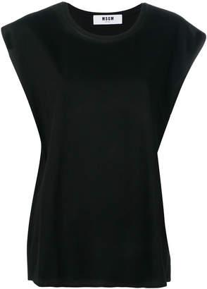 MSGM oversized sleeveless T-shirt