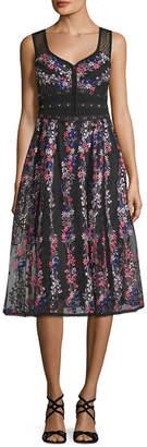 Nanette Lepore Floral Midi Dress