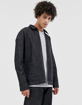 Asos co-ord worker jacket in selvedge denim