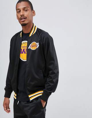 Mitchell & Ness L.A. Lakers track jacket in black