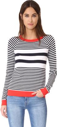 525 America Stripe Crew Neck Sweater $84 thestylecure.com