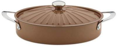 Rachael Ray CucinaTM 5 qt. Hard Enamel Covered Oval Sauteuse in Brown
